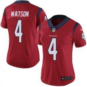 Women Texans Deshaun Watson Red Jersey